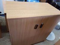 Office light oak storage cabinets
