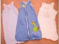 3 x BABY SLEEP BAGS / GROW BAGS AGE 6-18 Months