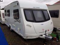 SUPERB 2013 Lunar Ultima 524 4 Berth Side Dinette End Washroom Caravan