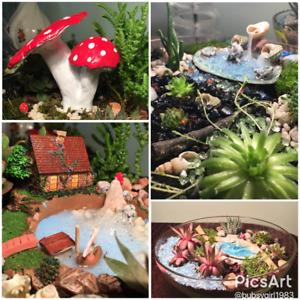 Custom made miniature gardens and accessories