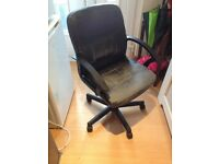 Faux Leather Desk Chair