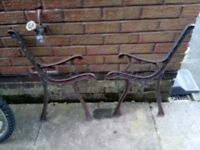 Free Bench ends , wrought iron