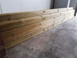 """4""""x4""""x10' PT lumber.  9pcs New un-used"""