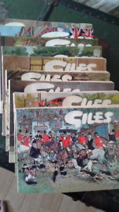 Set of 10 softcover GILES British comic books