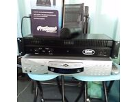 200 watt rackmount amp radio mic professional karaoke player plays all digital formats and cdg/video