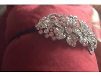 Crystal wedding hair band