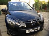 Mazda 2 with low mileage, low tax (£30), black Reduced!