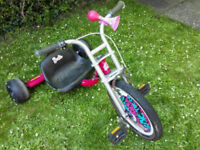 FREE BARBIE KIDS GIRLS SKIDDER TRIKE TRICYCLE BIKE