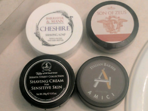 Traditional wet shaving soap & cream, aftershave