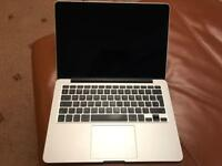 "13"" early 2015 MacBook Pro with 500GB Flash Drive, 16GB RAM, 2.9Ghz i5 processor."