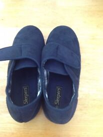 Sleepers Men's Full Slippers Navy,