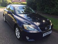 LEXUS IS220D 56 REG IN BLUE WITH GREY TRIM FULL SERVICE HISTORY,MOT APRIL 2018 IN STUNNING CONDITION