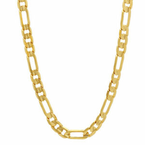 """NEW FIGARO LINK GOLD Filled CHAIN NECKLACE 21"""" long"""