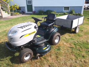 Almost New 20 HP Lawn Tractor with Tilt Trailer