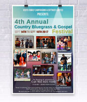 4th Annual Country, Bluegrass & Gospel festival.