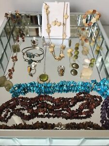 Earth tone costume jewelry collection