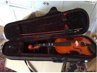 Violin 1/4 Size Childs Beginner size in case