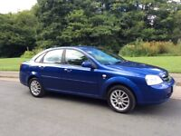CHEVROLET LACETTI 1.6SX 2006. ONLY 52,000 MILES. NEW MOT UNTIL JULY 2018.