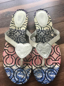 Poppy Coach Sandals for sale in a size 9/10. Lightly worn.