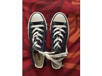 Converse navy short tops size 3 brand new never worn