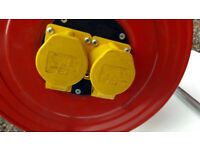 110V Extension Cable Reel 2 Sockets - 25mtrs