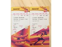 2x Category C Tickets- World Athletics Championships London 2017- Sat 12th Aug 17:30pm