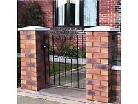 Wickes Chelsea Bow Top Steel Gate Black - 914 x 900 mm / NEW