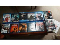 selection of blu rays and a couple of dvds