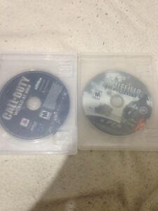 World at war and battlefield bad company 2 for the PS3