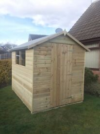 8x6 Tanalised Apex garden Shed Fully T&G - - 10 Year Guarantee