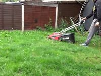 Mountfield electric mower with grassbox
