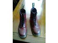 Doc Martens Originals Size 8/42 red 8 hole boots. Like new, only worn once.