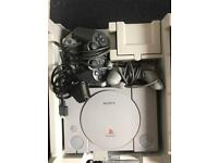 PS1 Console and Accessories and 2 Games For £35