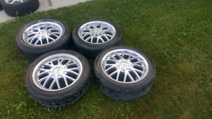 225×45R17 Chrome Rim with Tire for Sale
