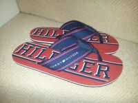 Tommy Hilfiger Mens flip flops, size UK8, new