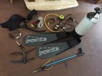 Scubapro full dive gear set up/ tanks / suit/find/ demand. Valve / etras