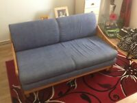 Double sofa bed solid pine