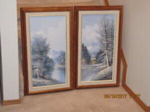 Oil Paintings - Oak Frames - Mountain Scenery