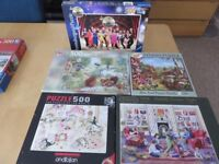 5 x 500 piece jigsaws, guaranteed complete and in very good condition