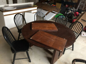 Large Round Dining Table Set