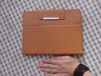 Leather tablet case, adjustable size