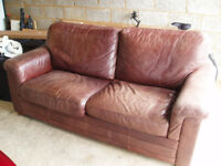 Large soft leather sofa for sale.