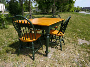 Solid Maple Table and Chairs