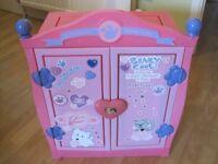 Buildabear Pink Wardrobe - excellent condition