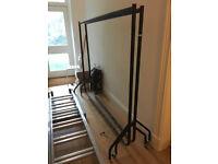 2 x metal clothes rails 6ft long