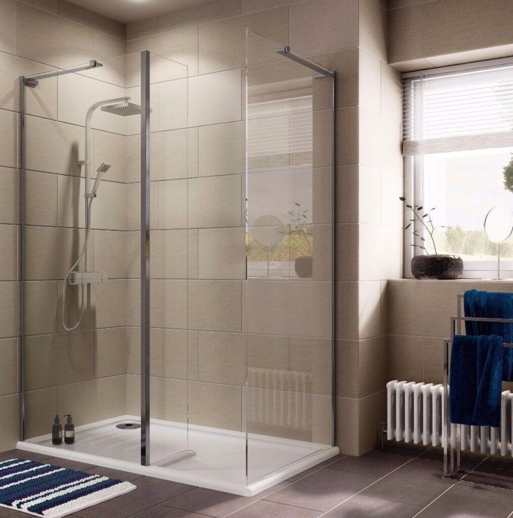 Cooke & Lewis Luxuriant Rectangular Shower Enclosure with WalkIn ...
