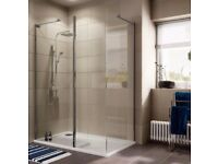 Cooke & Lewis Luxuriant Rectangular Shower Enclosure with WalkIn Entry W 1400mm D 900mm with LH-TRAY