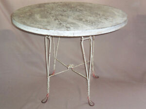 Wrought Iron Ice cream Parlour Table and Chairs