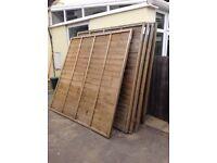 9 fence panels