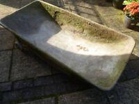 Galvanised mixing trough for mortar, plaster etc